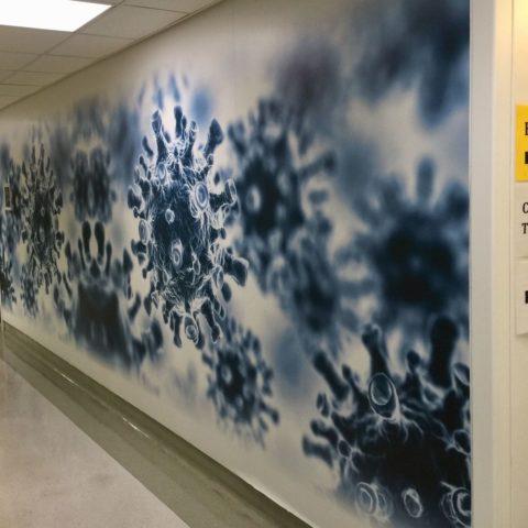 adhésif mural en vinyle - commercial